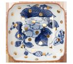 牡丹蝶文角皿〜長寿と栄華〜